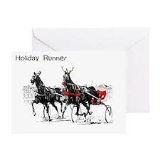 Santa Racing Greeting Card