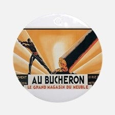 Vintage poster - Au Bucheron Round Ornament