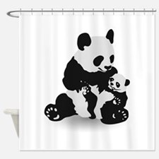Panda & Baby Panda Shower Curtain