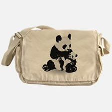 Panda & Baby Panda Messenger Bag