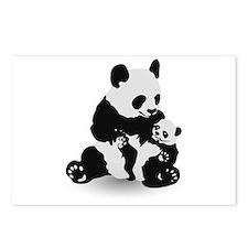 Panda & Baby Panda Postcards (Package of 8)