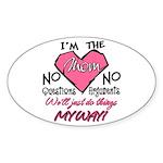 I'm The Mom! Oval Sticker