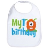 1 year birthday monster Cotton Bibs