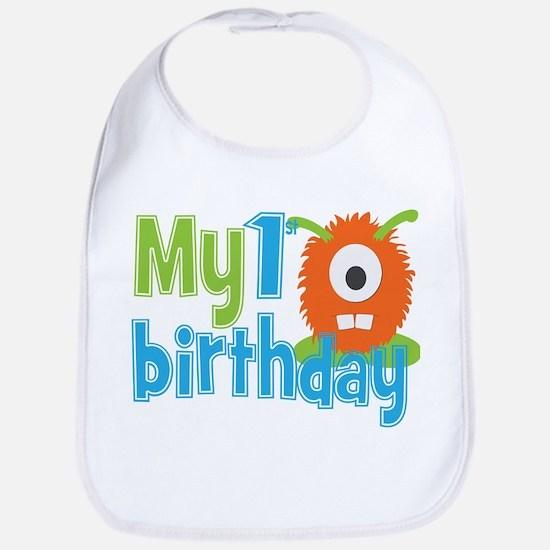 My First Birthday Baby Bib