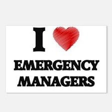 I love Emergency Managers Postcards (Package of 8)