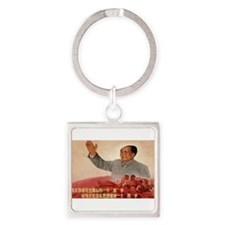 Vintage poster - Mao Zedong Keychains