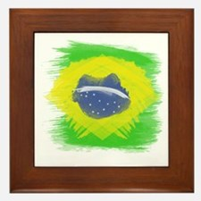 Cute Brazil soccer Framed Tile