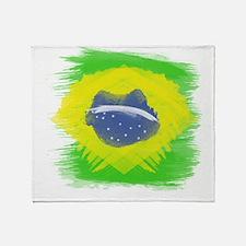 Brazil Flag Brasilian Rio Throw Blanket
