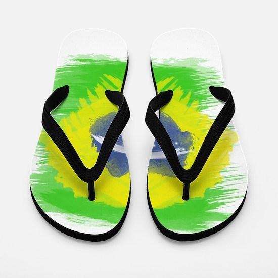 Brazil Flag Brasilian Rio Flip Flops