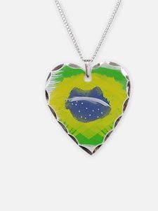 Brazil Flag Brasilian Rio Necklace
