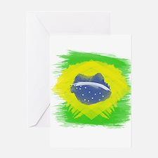 Brazil Flag Brasilian Rio Greeting Cards