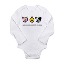 Cute Meat Long Sleeve Infant Bodysuit
