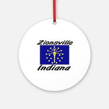 Zionsville Indiana Ornament (Round)