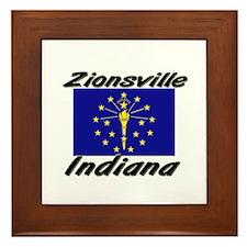 Zionsville Indiana Framed Tile