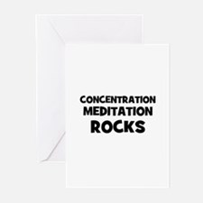 Concentration Meditation Rock Greeting Cards (Pk o