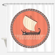 Ancient Ship Shower Curtain