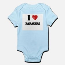 I love Farmers (Heart made from words) Body Suit