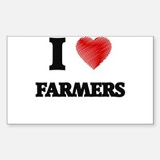 I love Farmers (Heart made from words) Decal