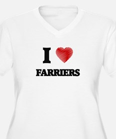 I love Farriers (Heart made from Plus Size T-Shirt
