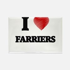I love Farriers (Heart made from words) Magnets