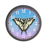 Zebra Butterfly Wall Clock