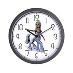 Lila the Centaur Girl Wall Clock