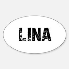 Lina Oval Decal