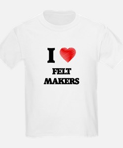 I love Felt Makers (Heart made from words) T-Shirt
