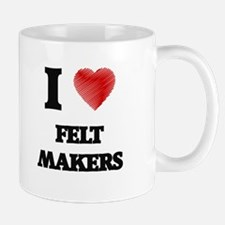 I love Felt Makers (Heart made from words) Mugs