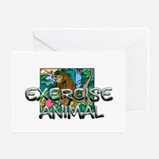 TOP Exercise Animal Greeting Card