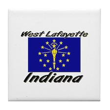West Lafayette Indiana Tile Coaster
