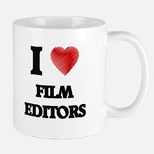 I love Film Editors (Heart made from words) Mugs