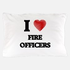 I love Fire Officers (Heart made from Pillow Case