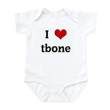 I Love tbone Infant Bodysuit