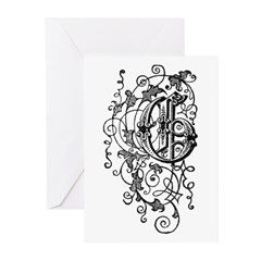 Letter G Greeting Cards (Pk of 20)