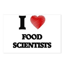 I love Food Scientists (H Postcards (Package of 8)