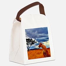 Lioness Storm Canvas Lunch Bag