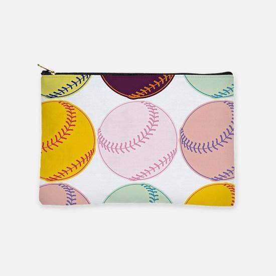 Watercolor Softballs Makeup Bag