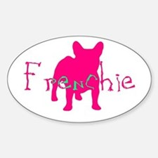 Cute French bull dog xbones Sticker (Oval)