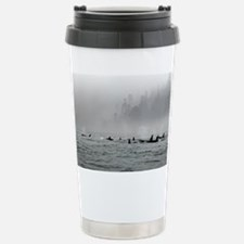 Passing Whales Stainless Steel Travel Mug