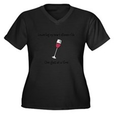 Wine Women's Plus Size V-Neck Dark T-Shirt