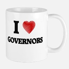 I love Governors (Heart made from words) Mugs