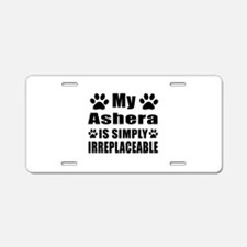 My Ashera cat is simply irr Aluminum License Plate
