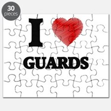 I love Guards (Heart made from words) Puzzle
