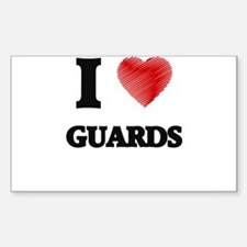 I love Guards (Heart made from words) Decal