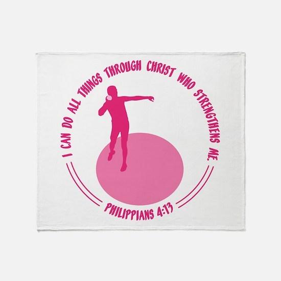 SHOT PUT - PHIL.4:13 Throw Blanket