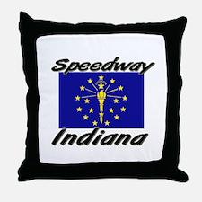 Speedway Indiana Throw Pillow