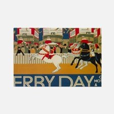 Funny Derby england Rectangle Magnet