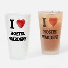I love Hostel Wardens (Heart made f Drinking Glass