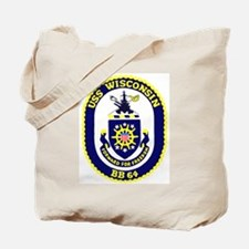 USS Wisconsin (BB 64) Tote Bag
